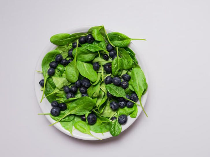 spinach-and-blueberries-provide-antioxidants-for-dog-brain-health