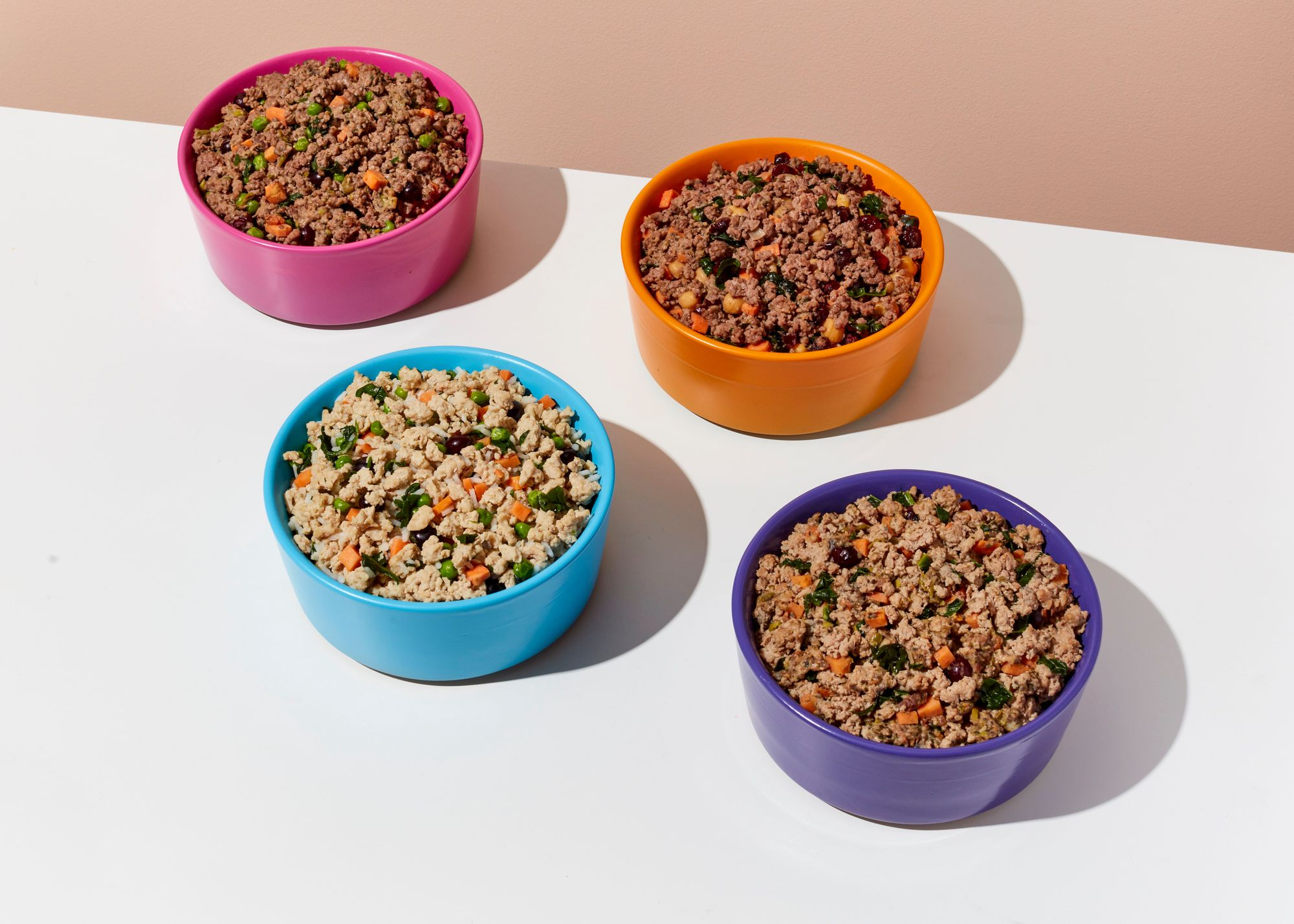 ollie-s-freshly-cooked-dog-food-in-colorful-bowls-on-white-table