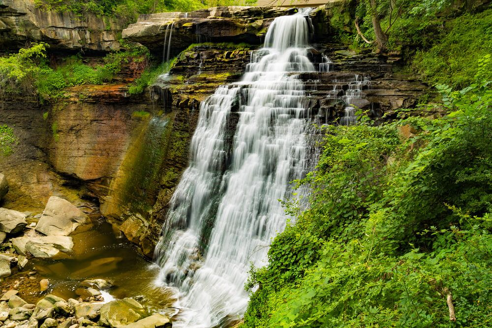 Cuyahoga-Valley-National-Park-falls-with-lush-green-foliage